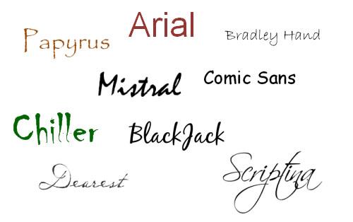 no questi font non vanno sulle copertine! Fare la Copertina per un ebook 7 – Che razza di font?