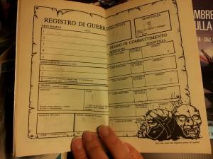 libri game la scheda del protagonista