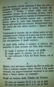 """libro game inizio di """"I Signori delle Tenebre"""" Collana Lupo Solitario"""