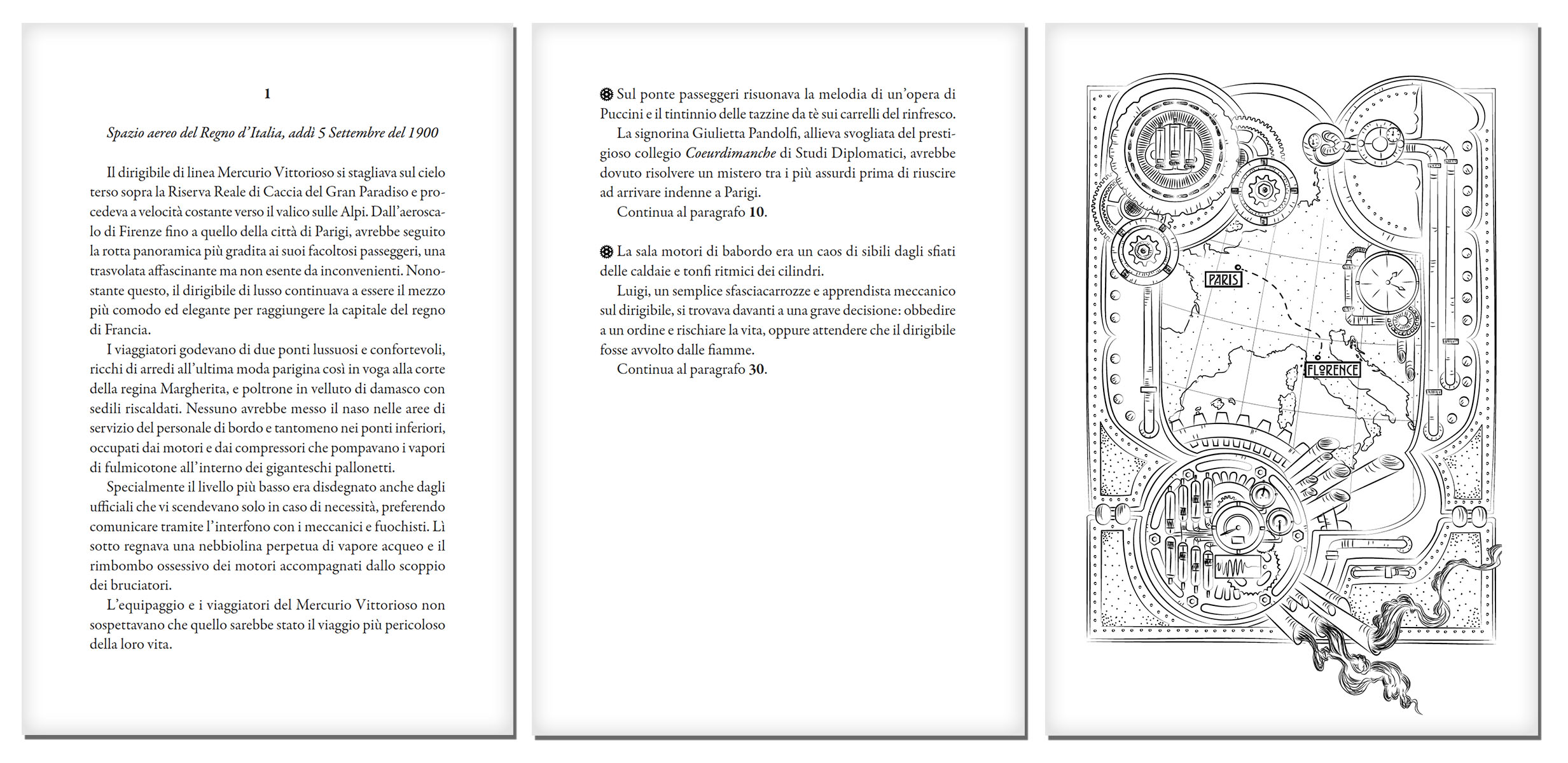 Gremlins ad alta quota, librogame romanzo interattivo steampunk