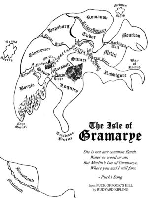 Mappa di Gramarye Stregone suo Malgrado è un libro di Sword and Sorcery fantascientifica scritto da Cristopher Stasheff. Uno dei classici da non perdere!