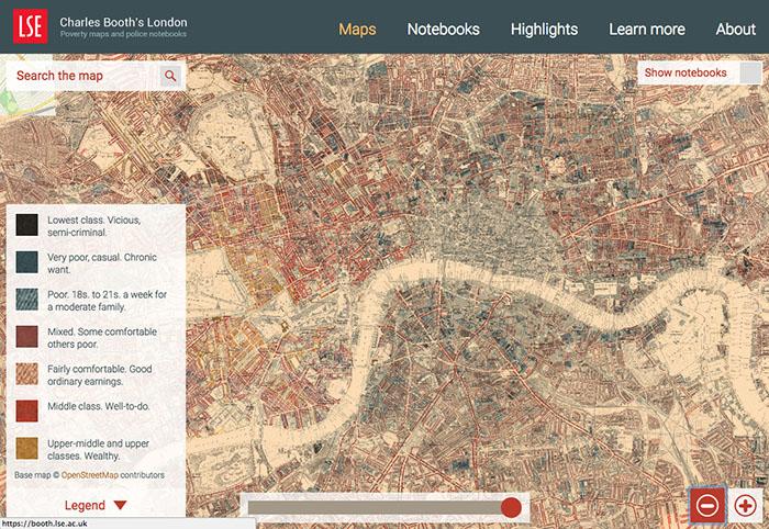 Charles Booth's London - Mappe della Londra Vittoriana, come orientarsi per le strade